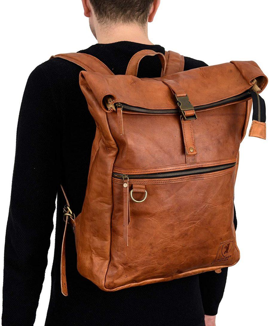 Mochila Berliner Bags Cuero Hombre espalda portátil