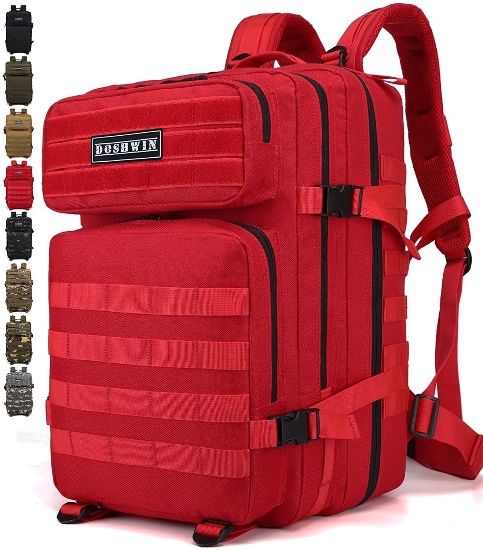 Doshwin 40L Mochila Táctica Militar Camuflaje Molle Assault Pack Color Rojo