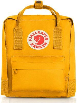 Mini mochila Kanken de senderismo amarilla