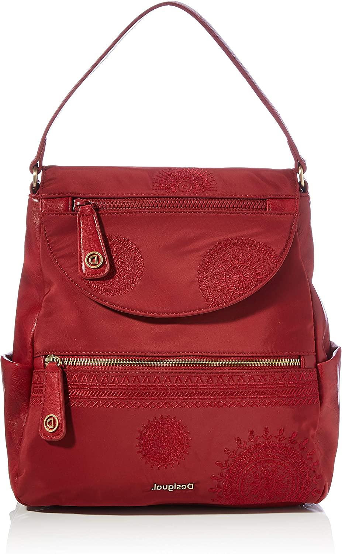 Desigual Accessories PU Backpack Medium, Mochila para Mujer, rojo